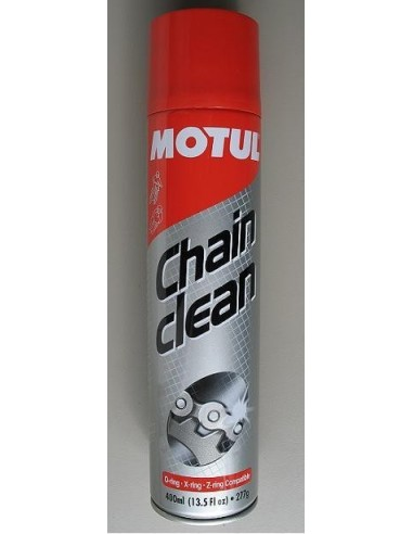 Motul chain cleaner spray 400ml pack for motorcycles suitable for all chains